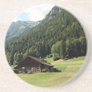 Cabin located in a scenic location coasters