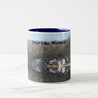 cabin on the lake mug