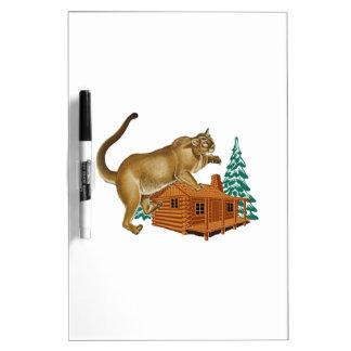 Cabin Pounce Dry Erase White Board