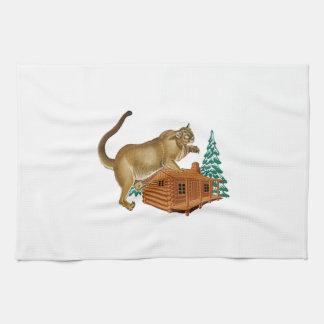 Cabin Pounce Kitchen Towel