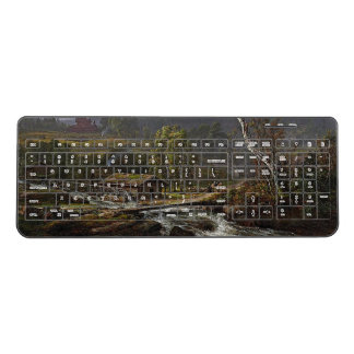 Cabin River Water Wheel Wireless Keyboard