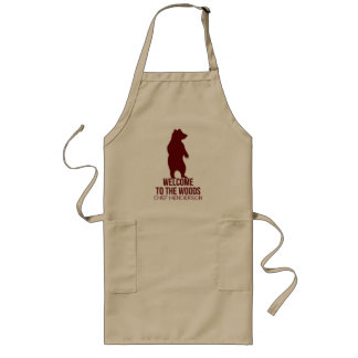 Cabin Theme for the Chef with Name Long Apron