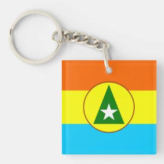 Cabinda region Angola flag symbol Keychain
