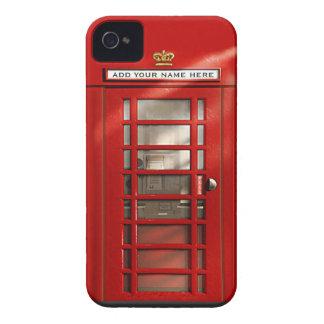 Cabine téléphonique rouge britannique personnalisé coque iPhone 4 Case-Mate