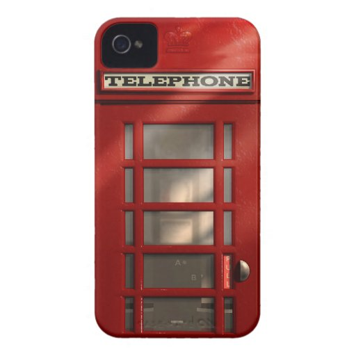 Cabine téléphonique rouge britannique vintage