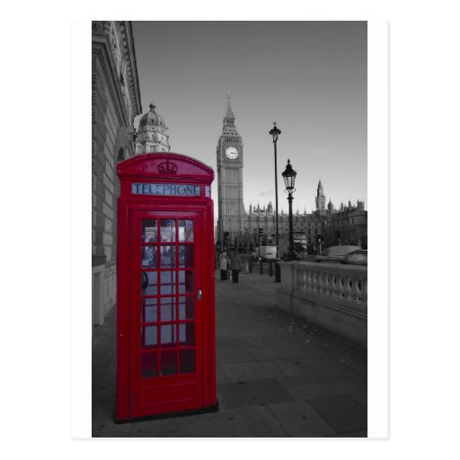 cabine t l phonique rouge de londres cartes postales zazzle. Black Bedroom Furniture Sets. Home Design Ideas
