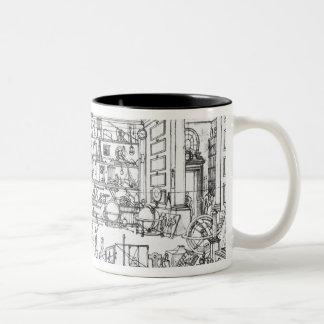 Cabinet of physics, 1687 Two-Tone coffee mug