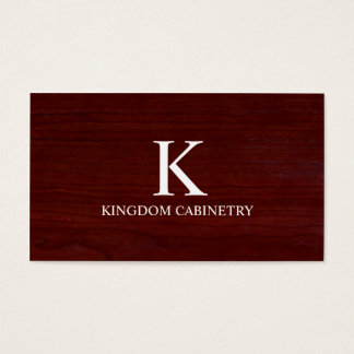 Cabinetry/Carpentry Business Card