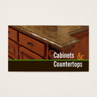 Cabinets, Countertops, Mill work Business Card