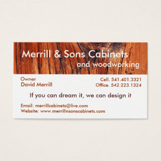 Cabinets or Woodworking Business Card