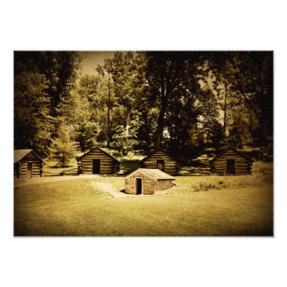 Cabins at Valley Forge Photo Print