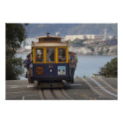 Cable car chugs up Hyde Street in San Poster