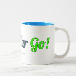 Cable Car Go! white mug