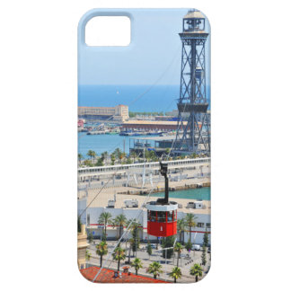 Cable cars (funiculars) in Barcelona iPhone 5 Cover