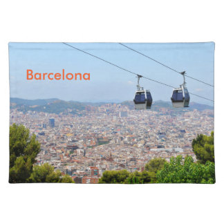Cable cars (funiculars) in Barcelona Placemat