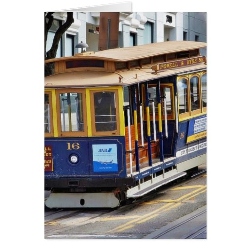 Cable Cars In San Francisco Greeting Card