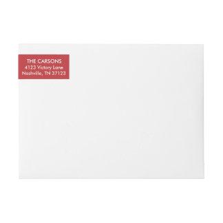 Cable Knit Christmas Return Address Label Wraparound Return Address Label