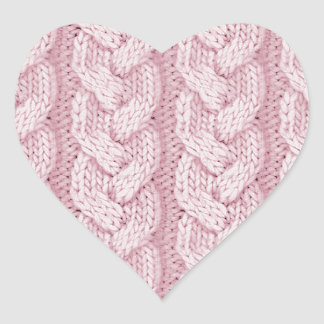 Cable knit design stickers