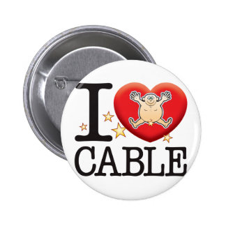 Cable Love Man 2 Inch Round Button