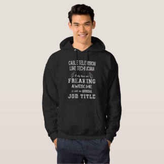 Cable Television Line Technician Hoodie