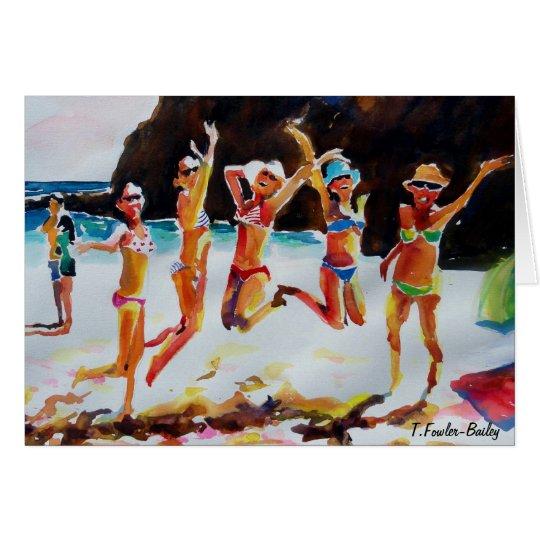 Cabo Bikinis and Shades   Card Original Watercolor