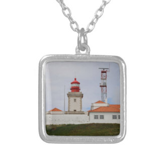 Cabo da Roca Lighthouse, Portugal Silver Plated Necklace