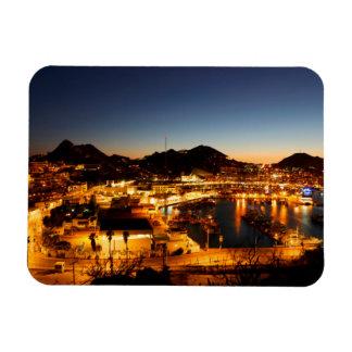 Cabo San Lucas Cityscape At Sunset, Mexico Rectangular Photo Magnet
