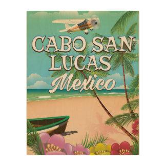 Cabo San Lucas Mexico Beach poster Wood Prints
