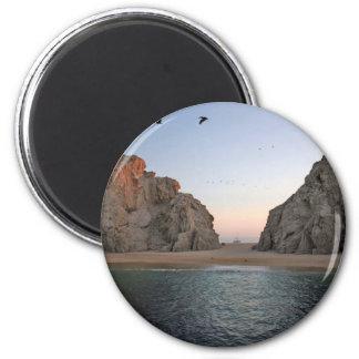 Cabo San Lucas Mexico Lover's Beach 2 Inch Round Magnet