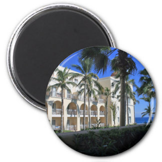 Cabo San Lucas Mexico Palm Trees Blue Sky 2 Inch Round Magnet