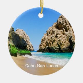 Cabo San Lucas Round Ceramic Ornament