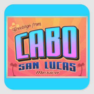 CABO SAN LUCAS SQUARE STICKER