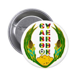 Cabo Verde Emblem Pinback Buttons