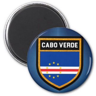 Cabo Verde Flag 2 Inch Round Magnet