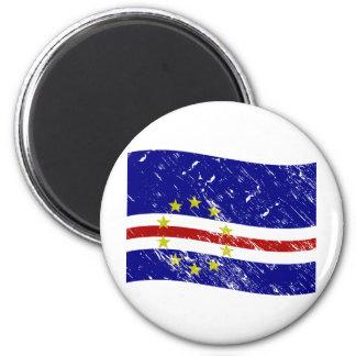 Cabo Verde flag 2 Inch Round Magnet
