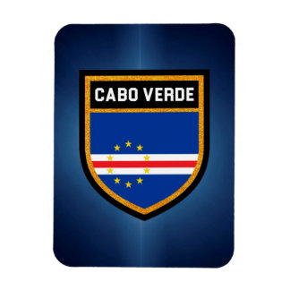 Cabo Verde Flag Rectangular Photo Magnet
