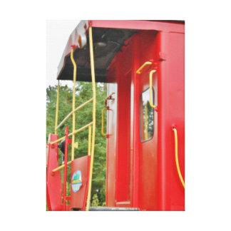 Caboose Adirondack Train Scenery Canvas Print