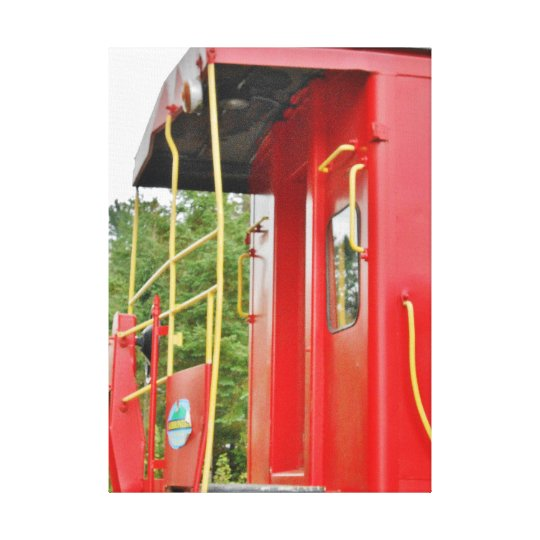 Caboose Adirondack Train Scenery Canvas Print