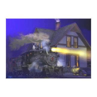 Caboose Hop at Dolores, CO Canvas Print