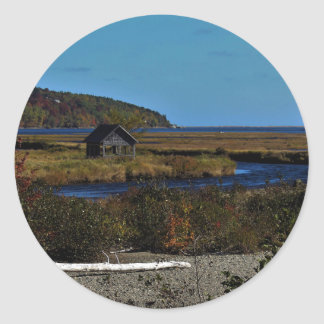 Cabot Trail in the Background Classic Round Sticker