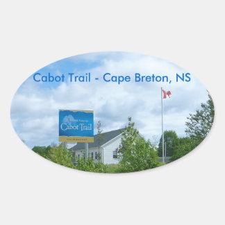 Cabot Trail Oval Sticker