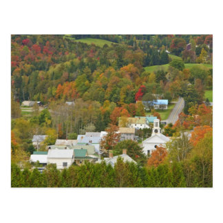 Cabot, Vermont in fall. Northeast Kingdom. Postcard