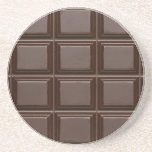 Caboteur de barre de chocolat dessous de verre