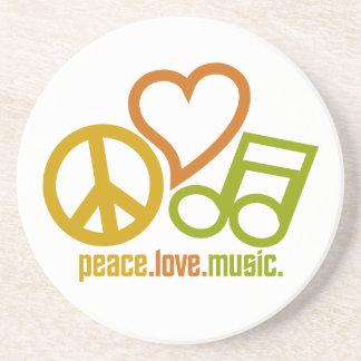 Caboteur de musique d'amour de paix dessous de verre