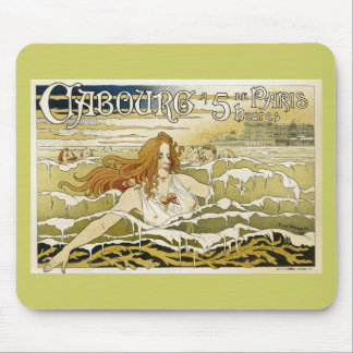 Caboure - Paris - Vintage French Advertisement Mouse Pad