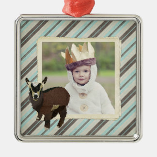 Cabrito (Patches)  Stripes Photo Ornament