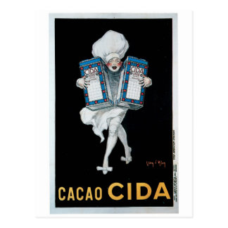 Cacao Cida Vintage Food Ad Art Postcard