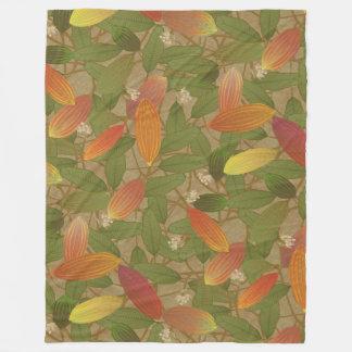 Cacao Pods Fleece Blanket