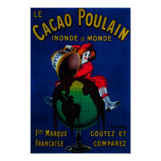 Cacao Poulain Vintage PosterEurope Poster