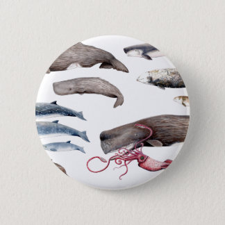Cachalote and zifios: Whales of the depths 2 Inch Round Button